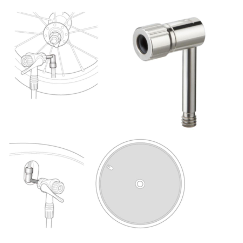 Topeak Pressure-Rite (Presta Valve Adapter)